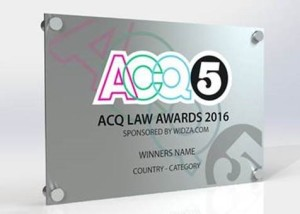 Premio ACQ5, ACQ Law Awards 2016