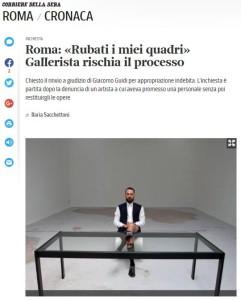 Articolo Corriere della Sera - Cronaca Roma